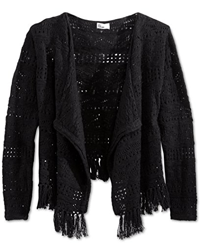 Epic Threads Girls' Knit Fringe Sweater Size -