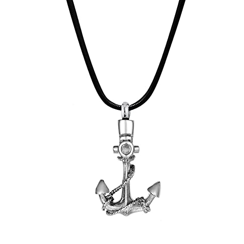 anchor cremation necklace