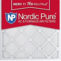 Nordic Pure 20x20x1M11MiniPleat-3 Tru Mini Pleat MERV 11 AC Furnace Air Filters (3 Pack), 20 x 20 x 1