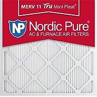Nordic Pure 20x20x1M11MiniPleat-6 Mini Pleat MERV 11 AC Furnace Air Filters, 20-Inch x 20-Inch x 1-Inch, 6-Pack