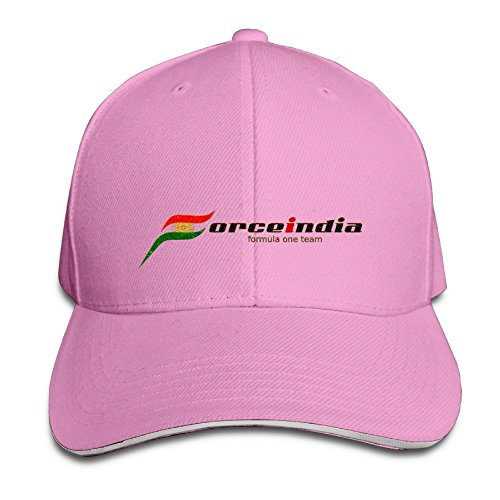 Price comparison product image ZXHCKH Force India Formula One Team Sandwich Baseball Cap Pink