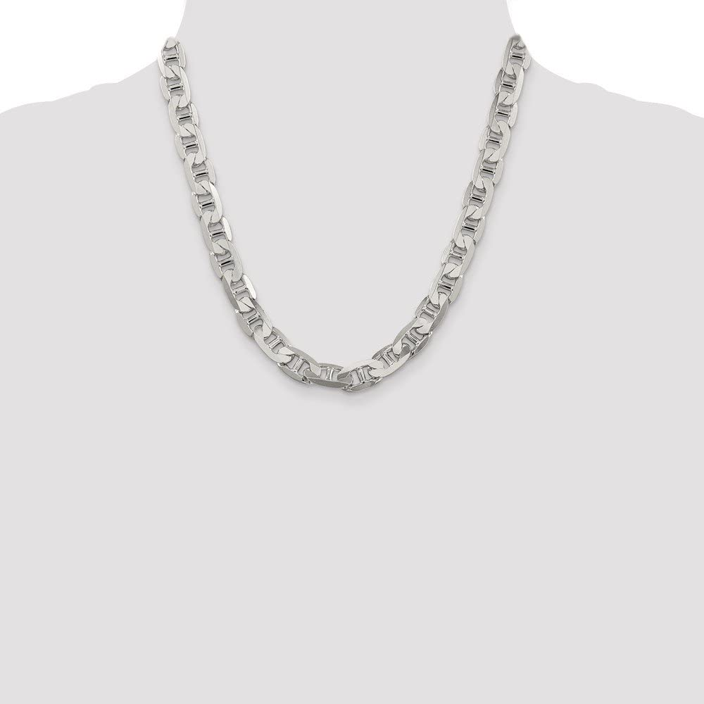 Sterling Silver 9.5mm Lobster Anchor Chain Necklace