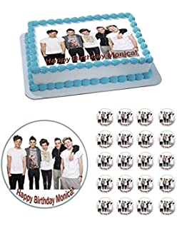 One Direction 1 Edible Birthday Cake OR Cupcake Topper