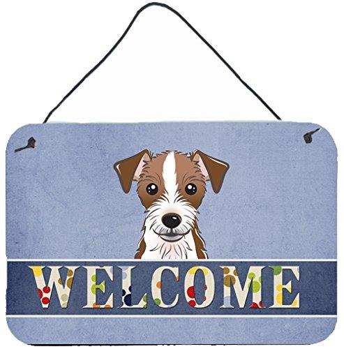 Caroline's Treasures BB1388DS812 Jack Russell Terrier Welcome Wall or Door Hanging Prints, 8x12, Multicolor