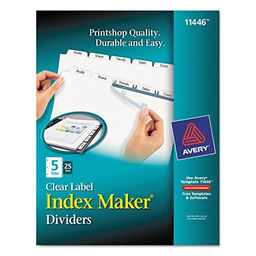 Avery Clear Label 5-Tab Index Maker ()