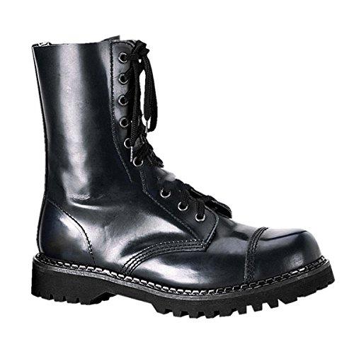 Demonia Rocky-10 - gothique punk cuir ranger bottes chaussures unisex 36-46