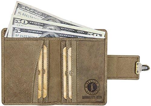 Klondike 1896 Damen Geldbörse aus echtem Leder Kitty, LIMITED EDITION, hochwertiges Echtleder Portemonnaie, stone stone
