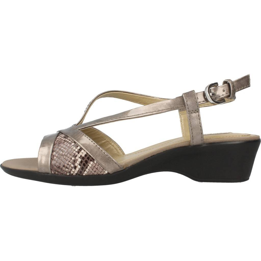 Sandalen/Sandaletten, farbe GEOX Metallic-Farbe , marke GEOX, modell Sandalen/Sandaletten GEOX farbe D NEW CORAL Metallic-Farbe Gold 7ea86e