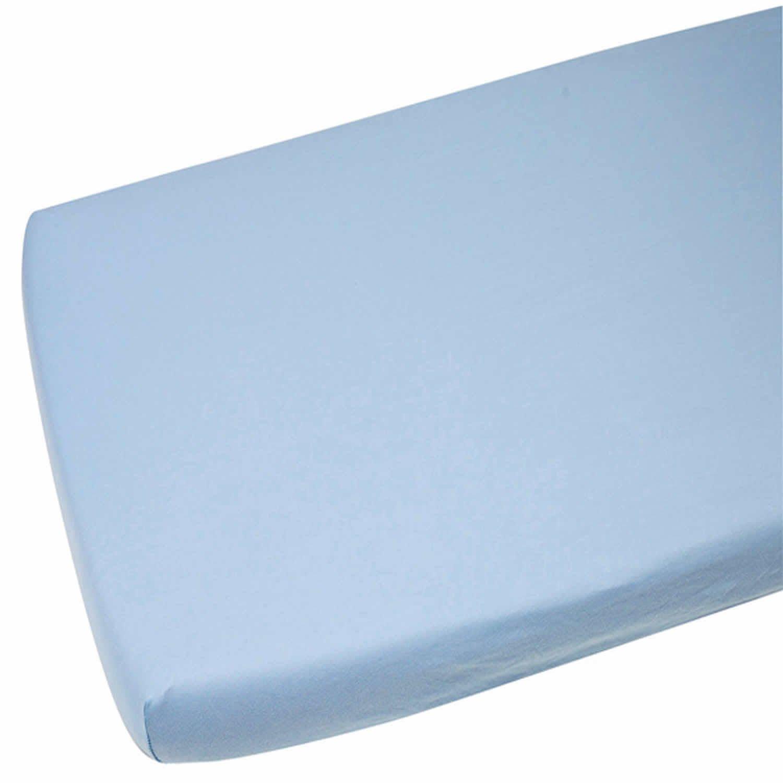 Cuna cama 100% algodón Jersey Sábana Bajera ajustable de 140x 70cm, color azul For-Your-Little-One