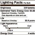 Euri Lighting VA19-2000e LED A19 Bulb, Filament Line