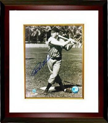 Autographed Kiner Photograph - Sepia 8x10 Custom Framed deceased batting) - Autographed MLB Photos