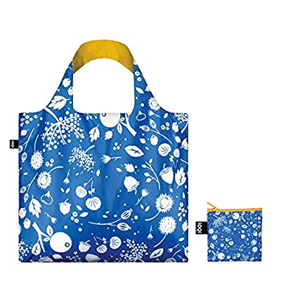LOQI SE.CO Seed Cornflower Reusable Shopping Bag, Multicolored
