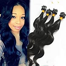 LUFFY Hair 100% Virgin Brazilian Micro Loop Human Hair Extensions Body Wave Micro Ring Hair Extensions 100strand/100gram (24 Inch)
