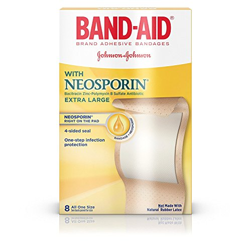 - BAND-AID With Neosporin Bandages Extra Large All One Size 8 Each (Pack of 5)