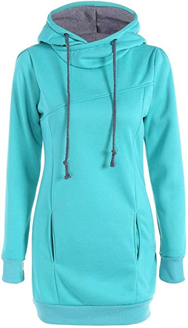 Hoodies Sweatshirt Women Winter Cotton Warm Clothes Slim Long Sleeve Plus Size Pullovers,as Shown,L,United States