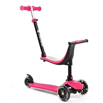 Patinete- Kick Scooters De 3 Ruedas para Niños Niños Niñas, Scooter De Viaje Altura Ajustable, Ruedas De PU Intermitentes (Color : Rosado): Amazon.es: Hogar
