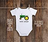 Home Grown Locally Tractor Toddler Kids Tee Shirt or Baby Bodysuit