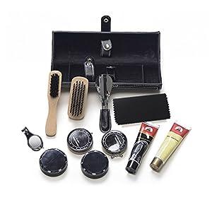 Sethjcsy Shoe Care Kit,12-Piece Travel Shoe Shine Brush kit
