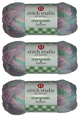 Stitch Studio Yarn by Nicole, Storybook Fanfare (3 Skeins) Petit-Four Petite Stitch
