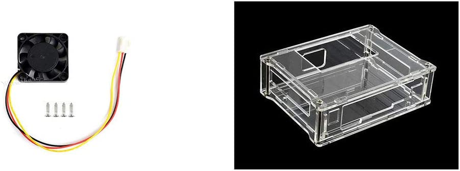 NVIDIA Jetson Nano Case (A) Acrylic Clear Case and Dedicated Cooling Fan Silent Working for NVIDIA Jetson Nano Developer Kit 3PIN Reverse-Proof Connector 5V~12V Voltage