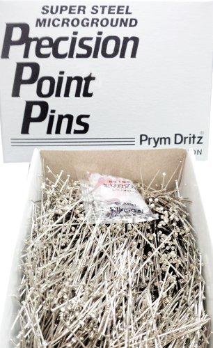 Vintage Prym #17 Steel Extra Fine Satin Pins 1/2 Lb Premium Nickel Plated Steel 1 1/16