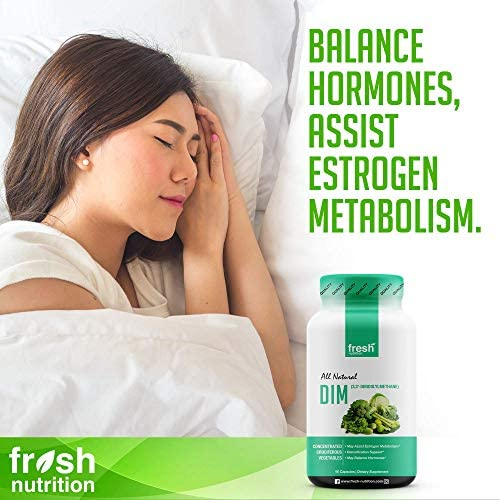 DIM Supplement 500mg - DIM Diindolylmethane - All Natural Estrogen & Hormone Balance Supplement Great for Detox, Menopause Relief, Acne, PCOS, Weight Loss & Bodybuilding – Vegan Friendly 5