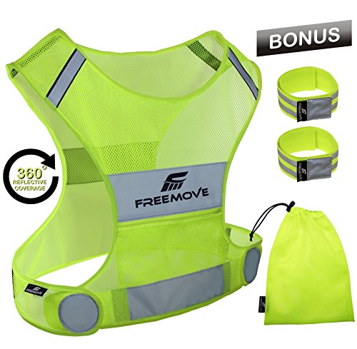 No.1 Reflective Vest Running Gear | YOUR BEST CHOICE TO STAY VISIBLE | Ultralight & Comfy Motorcycle Reflective...
