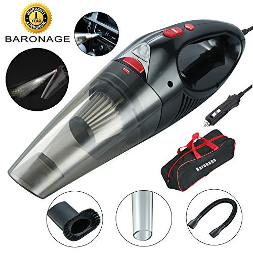 Baronage Car Vacuum Cleaner, 4500PA High Power DC 12-Volt 100W Portable Handheld Wet/DryAuto Corded Vacuum Cleaner with LED Light, 16.4ft Power Cord for Car Cleaning.