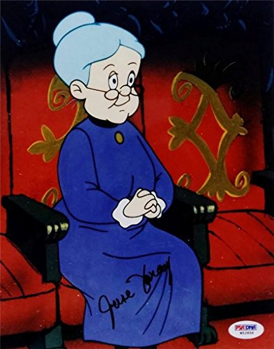 June Foray Signed Looney Tunes Granny 8x10 Photo PSA/DNA W52856 Auto Autograph