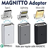 3 pack Magnetic Adapters MAGNITTO, USB Type C+Micro USB+Lightning to Micro USB Convert Connector for Samsung Galaxy S8 Plus S7 Note 8 Pixel XL Nexus 5X 6P LG G5 G6 V20 HTC iPhone X 8 7 Plus 6s 5s iPad