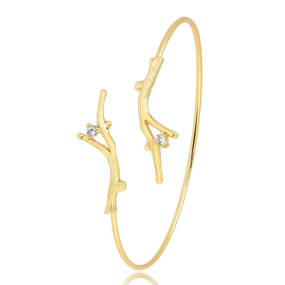 YANCHUN Science Antler Neuron Tree Branch Nerve Cell Open Wire Cuff Bangle Bracelet