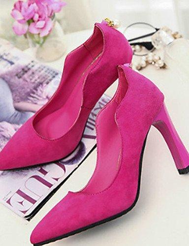 us8 us5 cn34 Tacones uk3 burgundy Bermell¨®n us8 Rosa eu39 de cn39 uk6 Stiletto Zapatos pink Tac¨®n eu35 mujer uk6 Negro ZQ eu39 Vell¨®n cn39 Casual pink Tacones xAFUgYqw