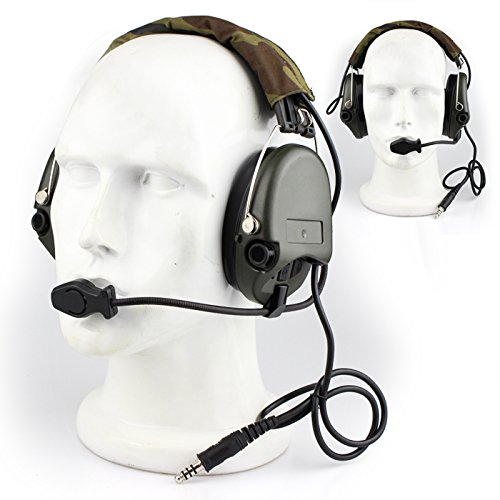 Impact Sport Sound Amplification Electronic Earmuff, Classic Green by Dolphin (Image #7)