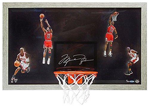 """MICHAEL JORDAN Autographed""""Winning"""" Acrylic Backboard Display UDA LE 123"""