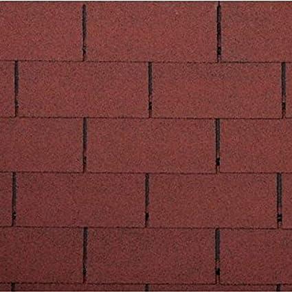 betún rectángulo forma color rojo teja 0,333 M X 1 M tejado tejas betún. teja sellado