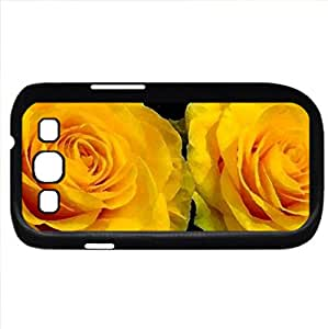 Yellow Roses (Flowers Series) Watercolor style - Case Cover For Samsung Galaxy S3 i9300 (Black)