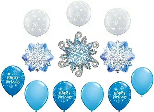 Frozen Winter Snowflakes Party Balloon Decoration Set (Frozen Balloons Snowflake)