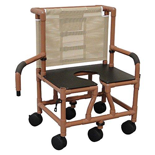 MJM WTS126-5TW-BAR-DDA Wood Tone Bariatric Shower Chair w...