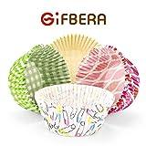 Gifbera Standard Cupcake Liners Bright