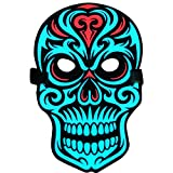 Creation Core Sound Reactive Soft LED Mask Voice Control DJ Mask for Festival Party Halloween Costumes Carnivals Dance Ball Masquerades Cosplay, Skull