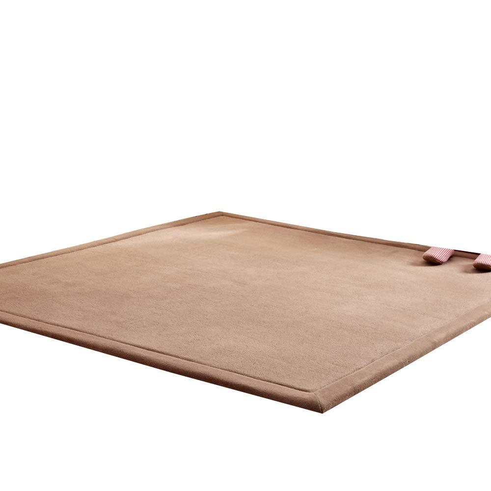 VClife® Teppich Polyester Dekoartikel Schlafzimmer Wohnzimmer Studiozimmer Boden für Fernsehen Lesen Yoga Training Kinderzimmer Baby Krabbeldecke 180 x 200cm Kaffee