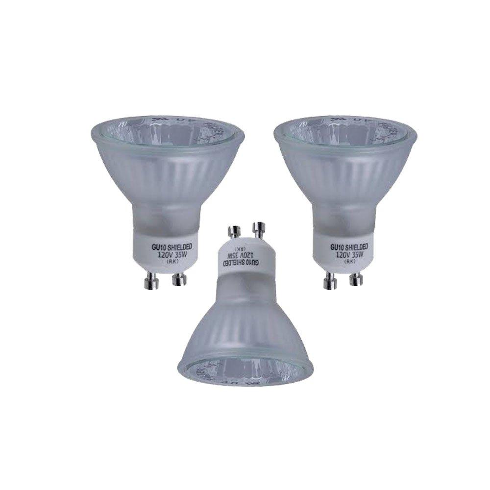 Hampton Bay 35 Watt Halogen GU10 Partial Reflector Light Bulb 3 Pack