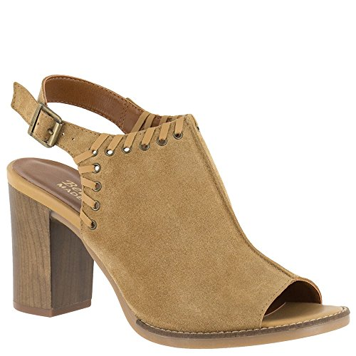 Bella Vita Womens Ora-Italy Peep Toe Pump Tan Italian Suede Leather Ituj7z100v