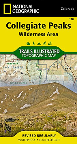 Collegiate Peaks Wilderness Area (National Geographic Trails Illustrated Map)