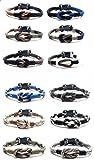 Paracord Knot Parachute Cord Bracelets Great Party Favors Set of 12 (Guys)