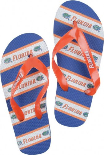 Florida Gators NCAA Unisex Thematic Striped Flip Flops