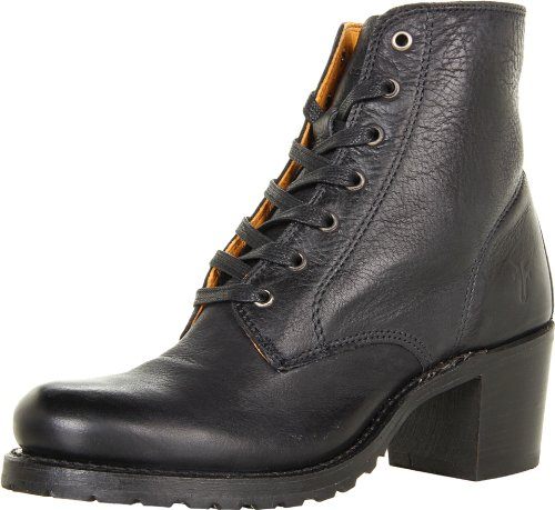 FRYE Women's Sabrina 6G Lace-Up Boot, Black Dakota Leather, 5.5 M US (Dakota Black Leather)