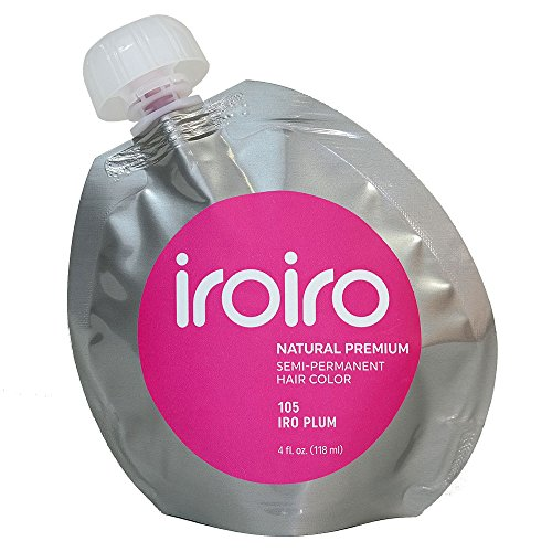 IROIRO Premium Natural Semi-Permanent Hair Color 105 Iro Plum ()