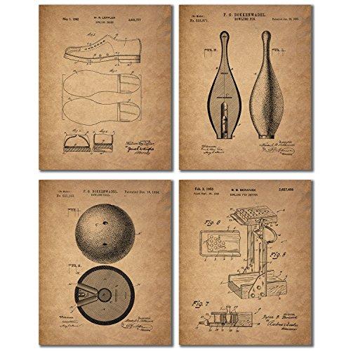 bowling-patent-wall-art-prints-set-of-four-vintage-antique-replica-photos