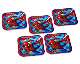American Greetings Spider-Man 2 Dessert Square Plate Small, Dessert Plates, 40-Count